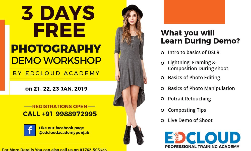 Free Photography Demo Workshop